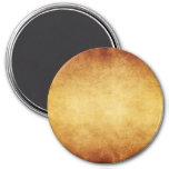 Vintage Aged Parchment Paper Template Blank 7.5 Cm Round Magnet
