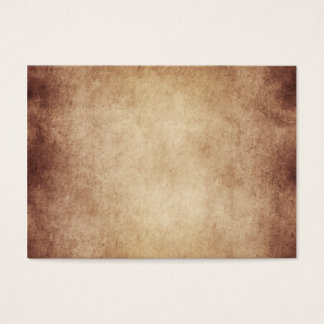 Vintage Aged Parchment Paper Template Blank Business Card