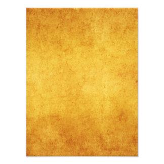 Vintage Aged Parchment Paper Template Blank Photographic Print