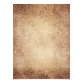 Vintage Aged Parchment Paper Template Blank Photo Print