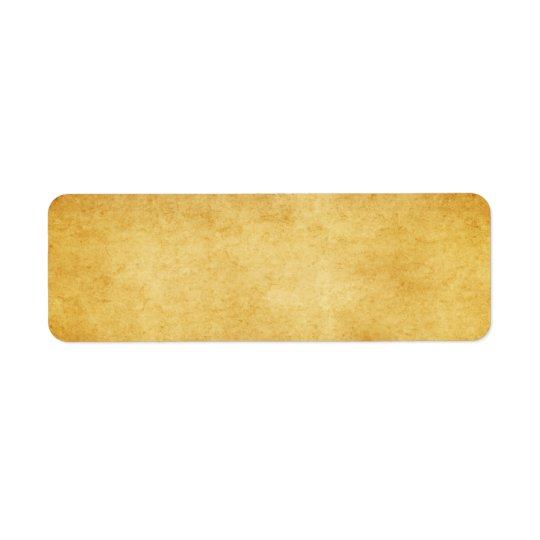 Vintage Aged Parchment Paper Template Blank Return Address Label