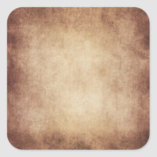 Vintage Aged Parchment Paper Template Blank Square Sticker