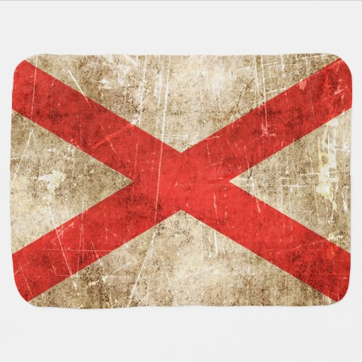 Vintage Aged Scratched Flag of Northern Ireland Swaddle Blanket