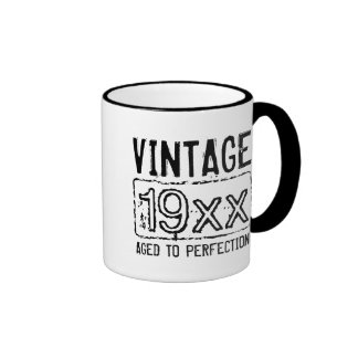 Vintage aged to perfection 11oz ringer coffee mug
