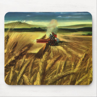 Vintage Agricultural Farm Business, Wheat Farming Mouse Mat