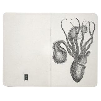 Vintage Agronaut Squid Octopus - Aquatic Template Journal