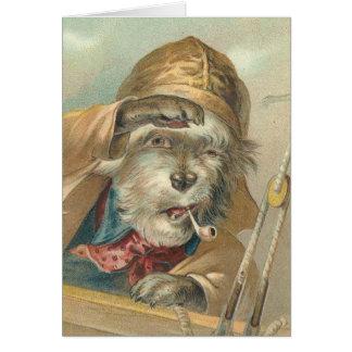 Vintage Ahoy Matey Dog Greeting Card