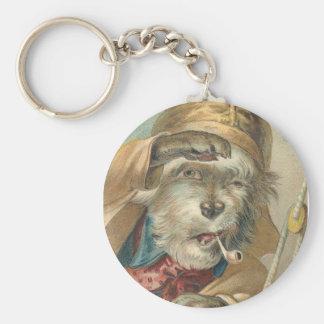 Vintage Ahoy Matey Dog Basic Round Button Key Ring