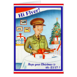 Vintage Air Force Military Christmas Card
