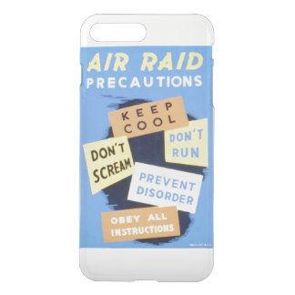 Vintage Air Raid Precautions WPA iPhone 7 Plus Case