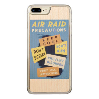 Vintage Air Raid Precautions WPA Poster Carved iPhone 7 Plus Case