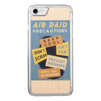 Vintage Air Raid Precautions WPA Poster Carved iPhone 8/7 Case