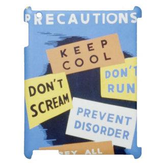 Vintage Air Raid Precautions WPA Poster Case For The iPad