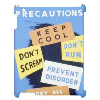Vintage Air Raid Precautions WPA Poster Case For The iPad 2 3 4