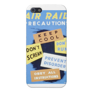 Vintage Air Raid Precautions WPA Poster Cover For iPhone 5/5S