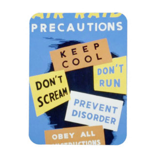 Vintage Air Raid Precautions WPA Poster Rectangular Photo Magnet
