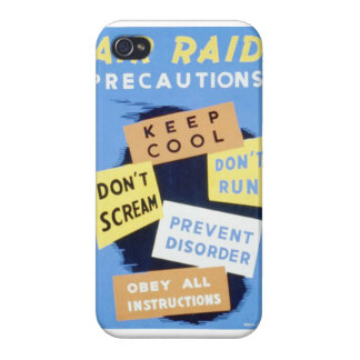 Vintage Air Raid Precautions WPA Poster iPhone 4/4S Covers