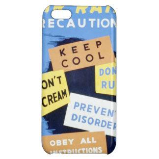 Vintage Air Raid Precautions WPA Poster iPhone 5C Cases