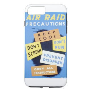 Vintage Air Raid Precautions WPA Poster iPhone 7 Plus Case