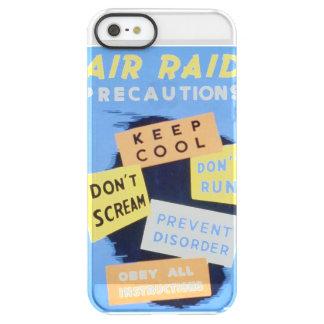 Vintage Air Raid Precautions WPA Poster Permafrost® iPhone SE/5/5s Case