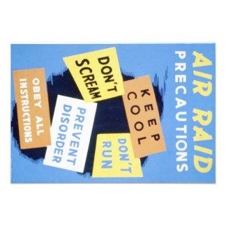 Vintage Air Raid Precautions WPA Poster Photograph