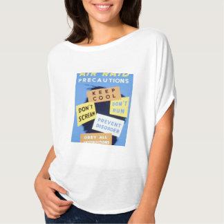 Vintage Air Raid Precautions WPA Poster T-shirt