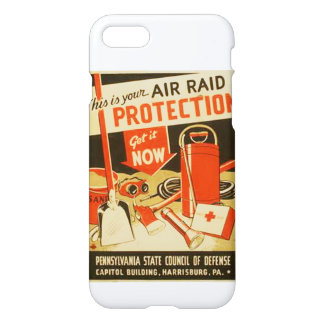 Vintage Air Raid Protection Defense WPA iPhone 7 Case