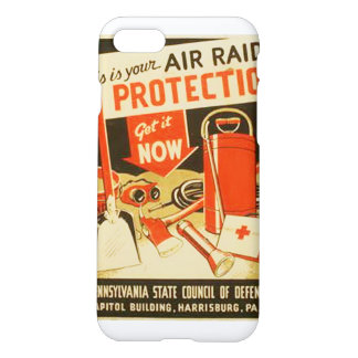 Vintage Air Raid Protection Defense WPA iPhone 7 Case