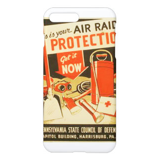 Vintage Air Raid Protection Defense WPA iPhone 7 Plus Case