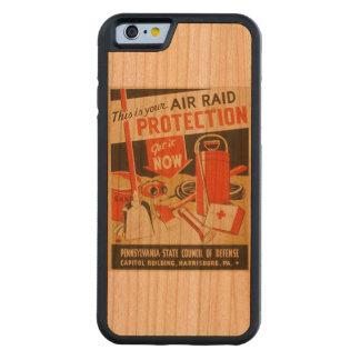Vintage Air Raid Protection Defense WPA Poster Cherry iPhone 6 Bumper