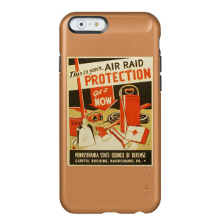 Vintage Air Raid Protection Defense WPA Poster Incipio Feather® Shine iPhone 6 Case