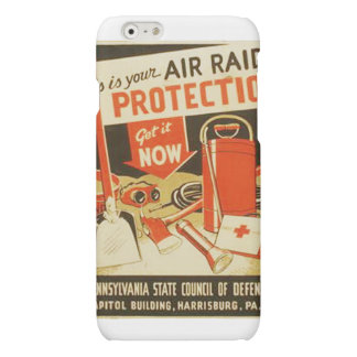 Vintage Air Raid Protection Defense WPA Poster iPhone 6 Plus Case