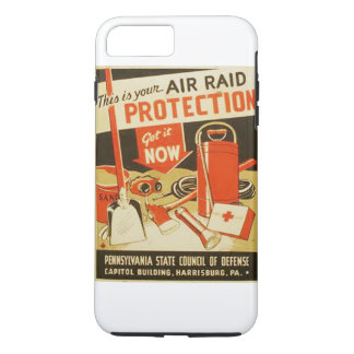 Vintage Air Raid Protection Defense WPA Poster iPhone 7 Plus Case