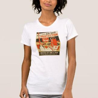 Vintage Air Raid Protection Defense WPA Poster T-shirts