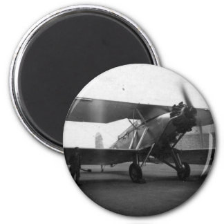 Vintage Aircraft 1933 6 Cm Round Magnet