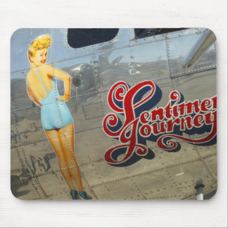 Vintage Aircraft Painting Mouse Pad