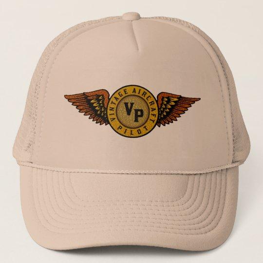 Vintage aircraft pilot cap