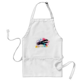 Vintage Aircraft with colorful clouds Aprons