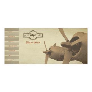 Vintage Airline Ticket Wedding Invitation Card