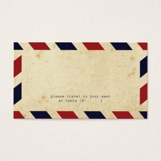 Vintage Airmail Escort Card