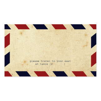 Vintage Airmail Escort Card Pack Of Standard Business Cards