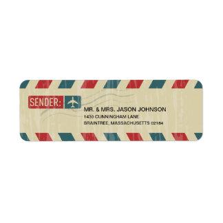 Vintage Airmail RETURN ADDRESS Mailing