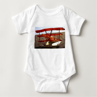 Vintage Airplane by Shirley Taylor Baby Bodysuit