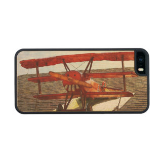 Vintage Airplane Carved® Maple iPhone 5 Case