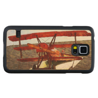 Vintage Airplane Carved® Maple Galaxy S5 Slim Case