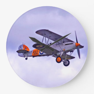 Vintage Airplane Design Wall Clock