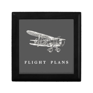 Vintage Airplane, Flight Plans Gift Box