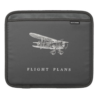 Vintage Airplane, Flight Plans iPad Sleeve