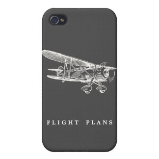 Vintage Airplane, Flight Plans iPhone 4/4S Cover