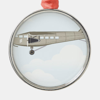 Vintage Airplane illustration vector Christmas Ornament